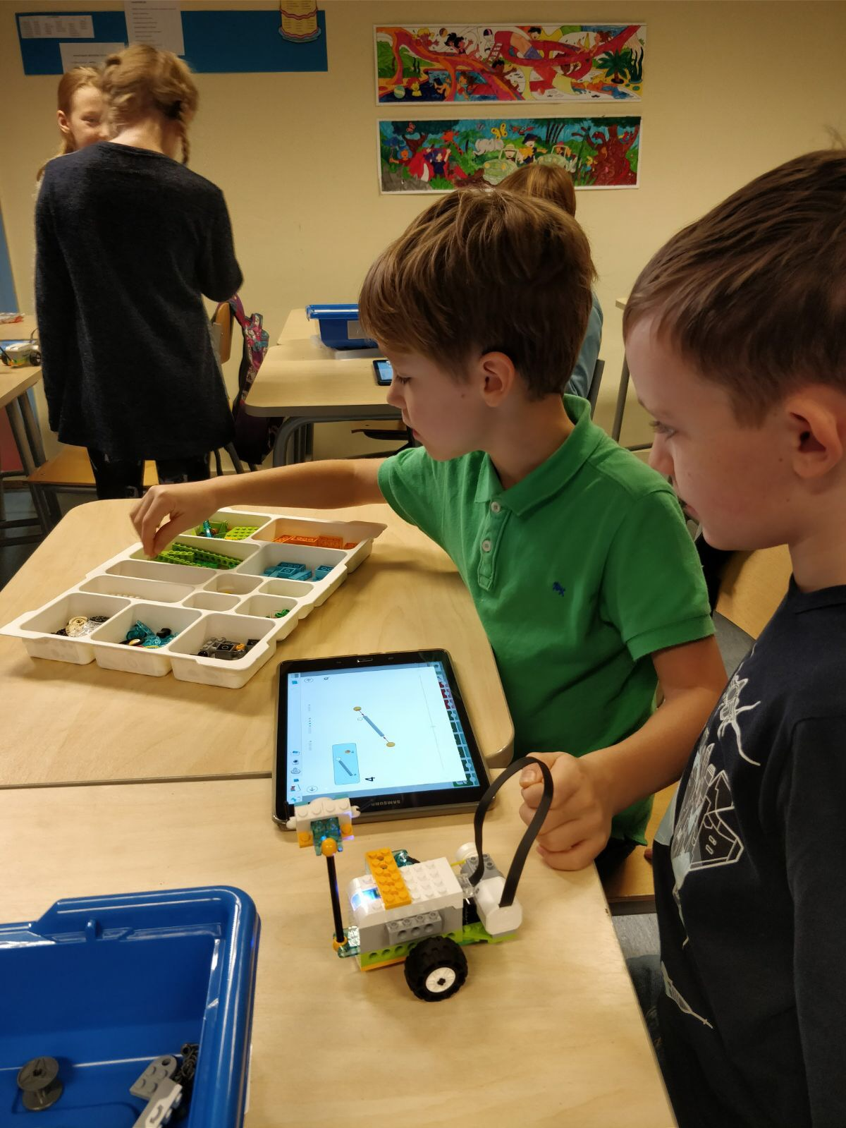 "Play is part of learning - The students get to fix the Lego robotics together, and learnt to use the iPad to control the robots. ""From a young age, they already learn how to do these things. They will probably be very technologically advanced and innovative when they reach 21 years old,"" he said. For Estonians, play is part of learning. Joshua said that the students choose the activities that they want to do in class at their own discretion."