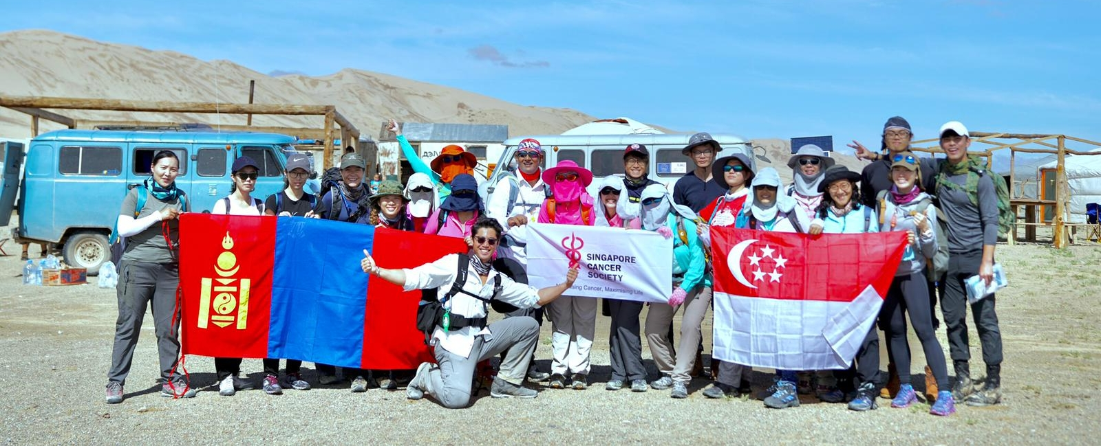 Scott celebrated the end of his 800km trek by raising funds for the Singapore Cancer Society.