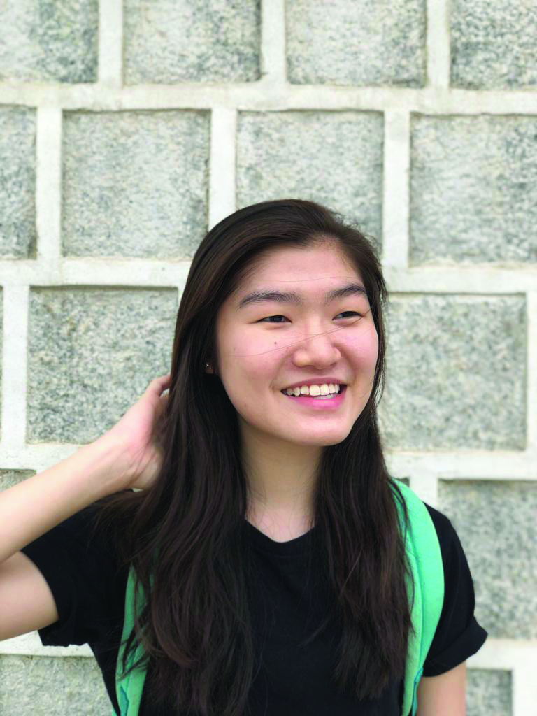 Lim Jing Wen, 20, Year 2 student from National University of Singapore (NUS). She's under the NUS merit scholarship and the University Scholars Programme (USP) programme.