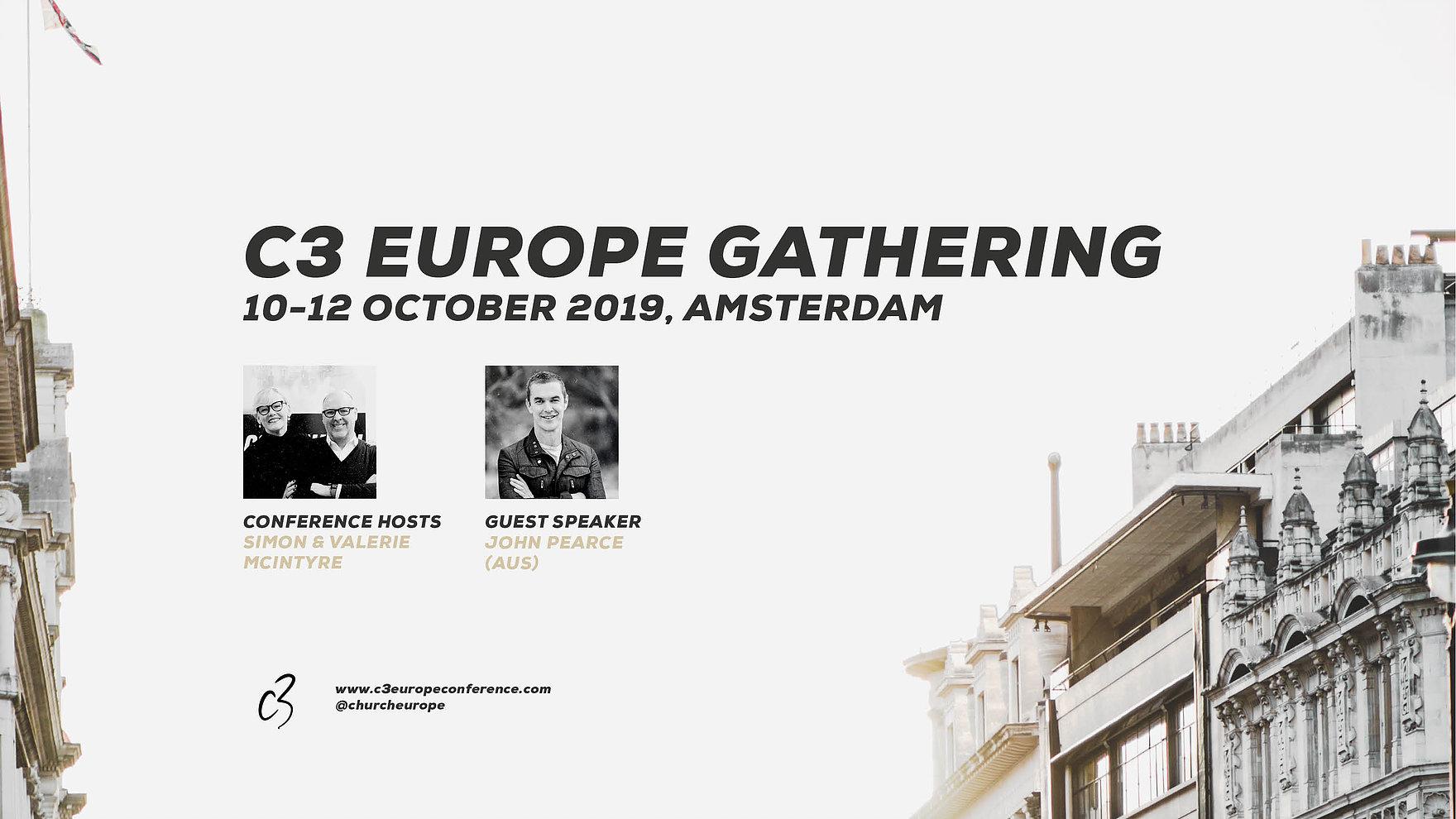 Location  Amsterdam Theater, Danzigerkade 5, 1013 AP Amsterdam, Netherlands   Register   https://www.c3europeconference.com/events/c3-europe-gathering-2019