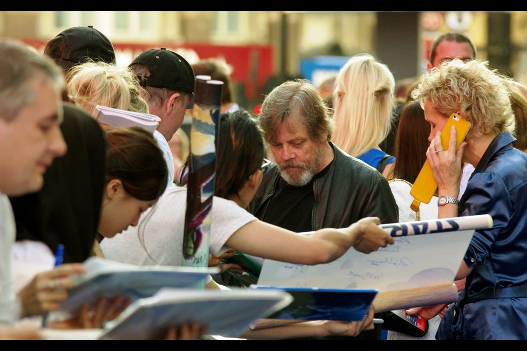 On a more 'randomly awesome' rather than 'expected awesome' front, the old guy with the beard who some peole described as 'rather homeless looking'.... turned out to be Mark Hamill, aka Luke Skywalker from the original Star Wars saga. And he was signing autographs!! (I .... might have asked for and received one of those autographs)