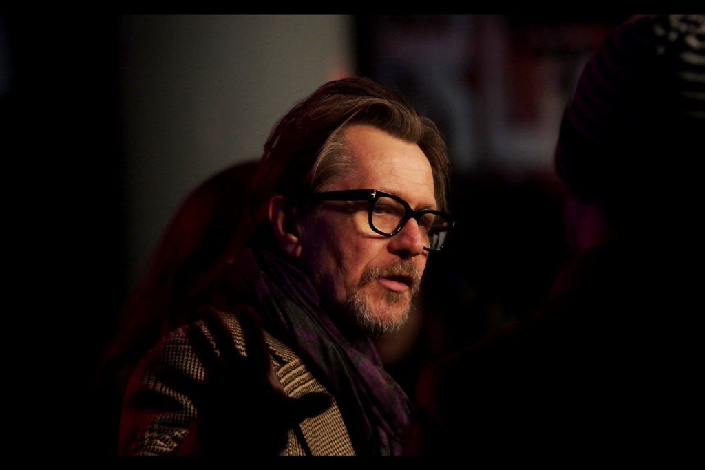 Gary Oldman is interviewed right next to me. His filmography is incredible, but just in premieres I've been to he was in The Dark Knight,  The Dark Knight Rises  ,  Tinker Tailor Soldier Spy   and he didn't even show up to several others. Personal highlight - he played Jean-Baptiste Emanuel Zorg in Luc Besson's The Fifth Element.