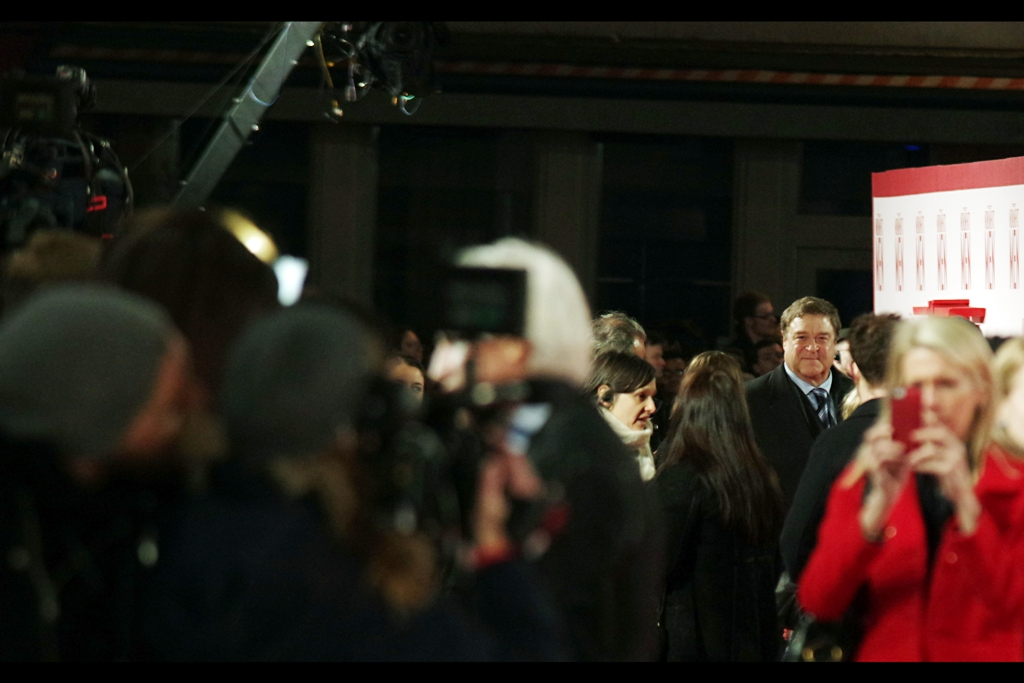John Goodman is cheerful, and even more importantly for the range I'm shooting at... tall. I last photographed him at the premiere of  Ben Affleck's Argo
