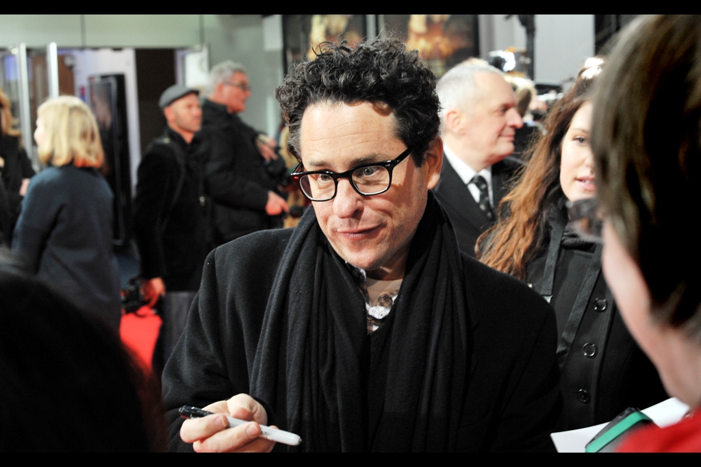 """Seriously? A Pen? I've moved onto fully digital and 3D... it's about time you did, too""  I'm being very unfair. JJ Abrams is one of the most consistently nice people to grace red carpets at premieres.  And also book signings"
