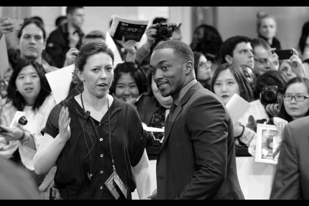 """Okay, when I drop my arm, give the Paparazzi your fully-developed Blue Steel Glare. See what they make of it""  You might remember Anthony Mackie from Million Dollar Baby and The Hurt Locker, but if you're a man-child like me you'll probably like him for his role in the Hugh Jackman boxing robots movie ""Real Steel"". Which is Awesome."