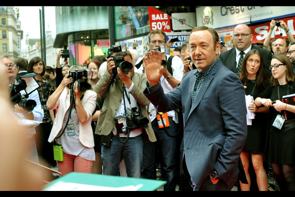 """Hi, I'm Kevin Spacey and I've won two more Oscars than any of y'all, unless you were in one of those technical categories in which case I congratulate you"".  I've never actually photographed Kevin Spacey, and I've never been snubbed by Kevin Spacey either, but both of these things were set to change on this hallowed afternoon!"