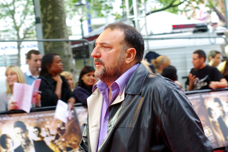 People were saying 'woo! the fat guy from Borat'. But no, this is (wireimages informs me) producer Joel Silver, who also did the Matrix Trilogy and Die Hard movies in a producing career that stretches back decades. (What does a  producter  DO, though??)