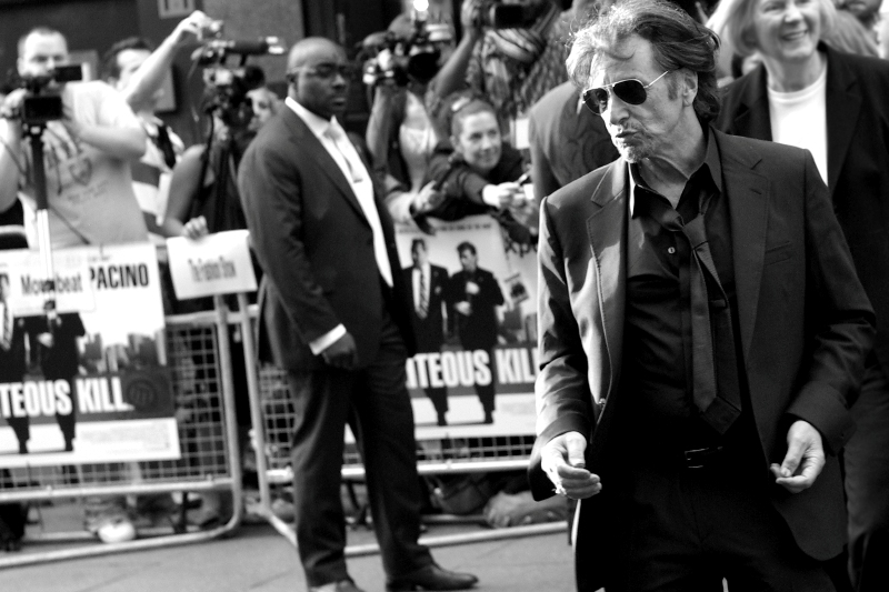 Al Pacino dances to the voices in his head. Although, being Al Pacino's voices, they're probably very angry and shouting loudly.