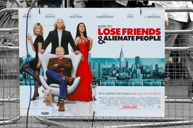 Only 1 of the the 4 people on this poster actually showed up to the 'World Premiere'. Kind of a shame, since 2 of the 4 are very pretty (sorry, Simon Pegg... you're not. Thanks for turning up,though!).
