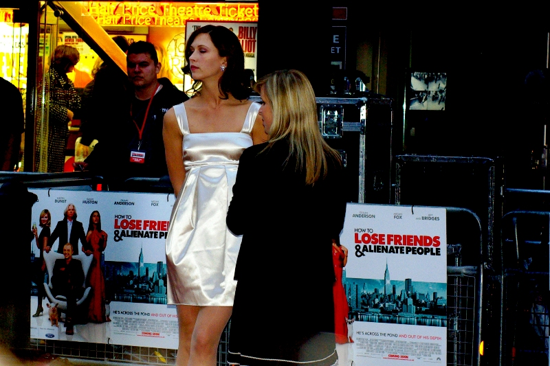 White Dress and she was interviewed. Qualifies! (subsequent research reveals she's American Actress/Model Margo Stilley. I looked her up on wikipedia and she... uh.... oh. Okay, then. Only if you're over 18, people. She's in this movie, anyway.