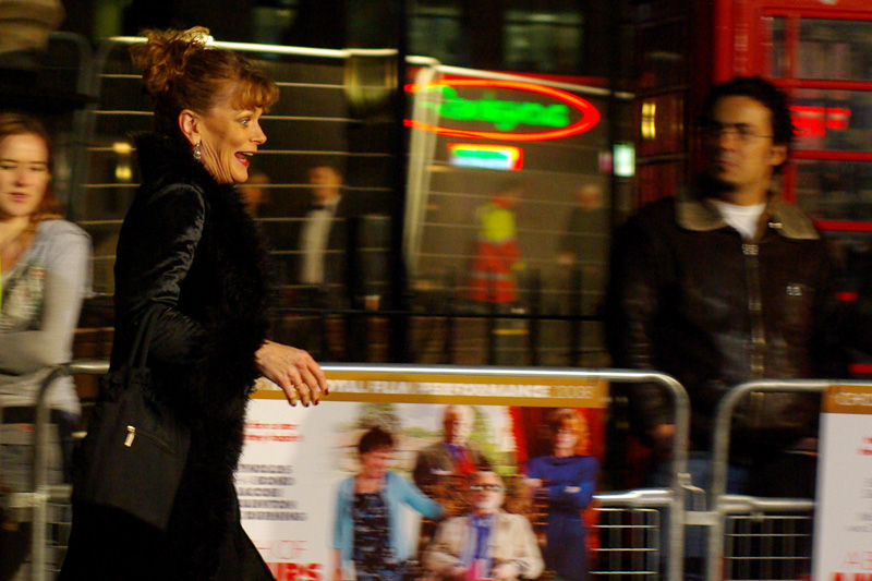 Samantha Bond, who played Miss Moneypenny in all the Pierce Brosnan-era James Bond films