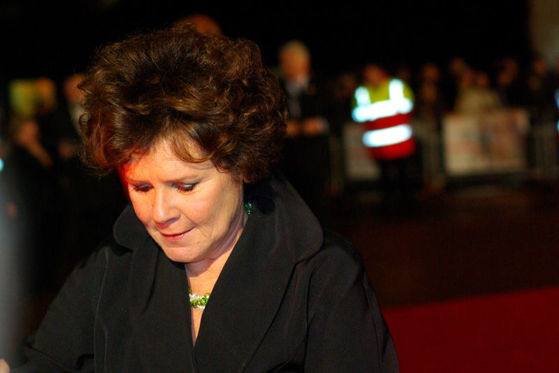 This is Imelda Staunton, who played the hated Dolores Umbridge in the last Harry Potter film just a little TOO well for my liking!