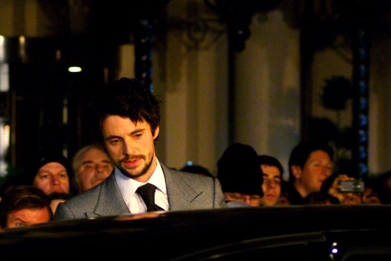 """This is Matthew Goode, who plays the character I'm calling """"Blonde-Haired Hero"""". IMDB calls the character 'Ozymandias'... oh, like that helps...."""
