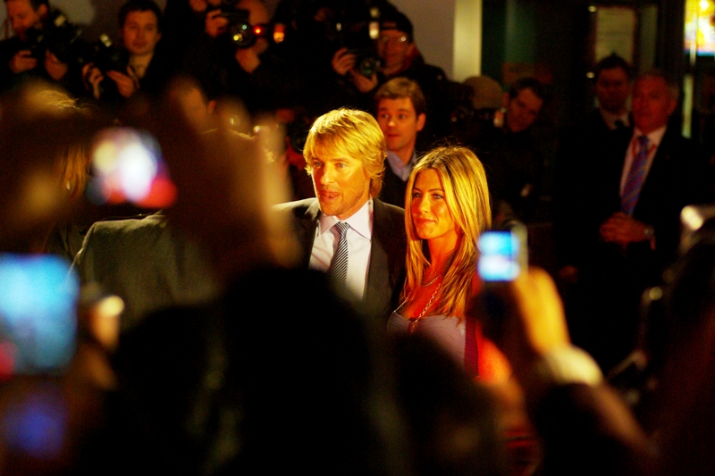 """I found her. I'm keeping her"". I'll observe that it's rare to have the two lead stars in such constant proximity to each other. Handy little package deal... useful for not having to choose between Owen Wilson and Jennifer Aniston for Photo For The Day"