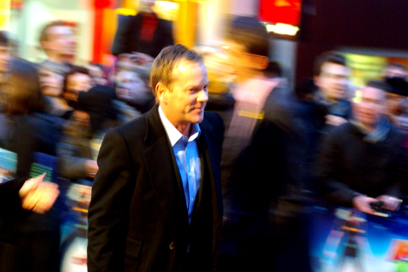 Kiefer Sutherland had to leave the premiere early to defend Democracy rather than promote an animated Dreamworks movie. (Actually, that's not true, but if any actor could do that, it would be him)
