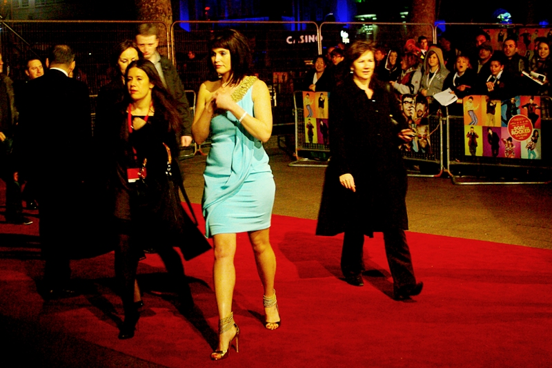 """Gemma Arterton, the second of two Bond Girls in """"Quantum of Solace"""", and her very thin dress."""