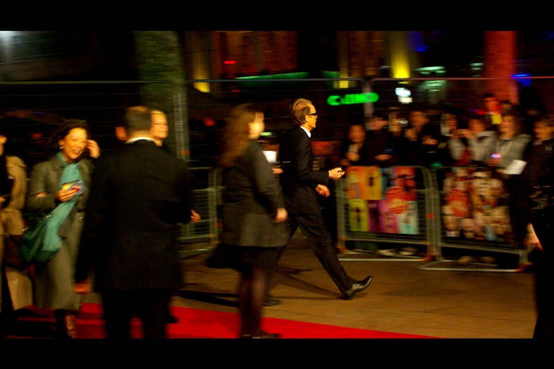 Actor Bill Nighy runs to wherever it is that actors of his stature run when they're running to things.