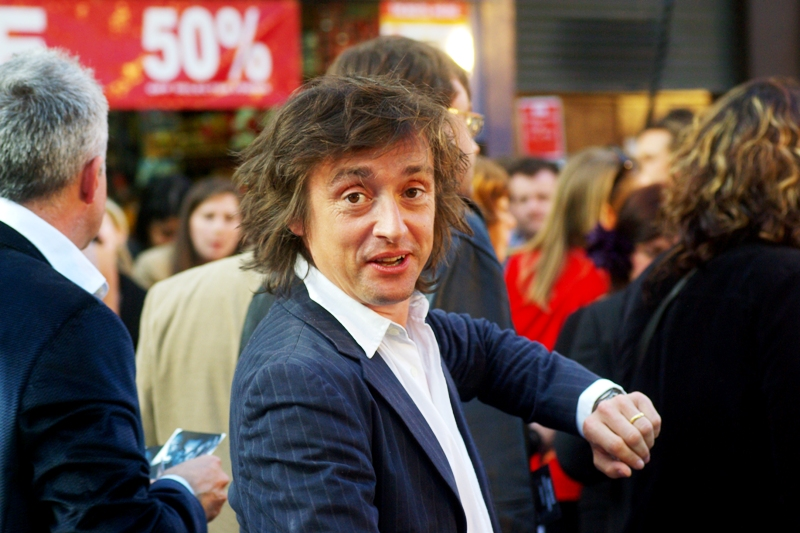 Top Gear presenter Richard Hammond was telling the people in front of me desperate for his autograph that he was kind of running late. Obviously not driving a Bugatti to the premiere, then....