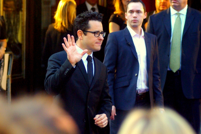 JJ Abrams signed an autograph, so I'll forgive his attempt at a Vulcan Salute, if that's what it was..