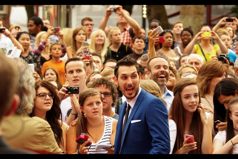 """""""OMG! You're the guy from that film I'm in !!!""""  As you might have guessed, Blake Harrison is also best known for his association with The Inbetweeners. He's also been in a lot of TV shows I haven't watched. In my defense... it's not that I'm too cool to watch television thee days... television is probably too cool for me. (also, I thought kids didn't watch TV anymore - I thought they just played Candy Crush and Fruit Ninja and took selifes while updating facebook)"""