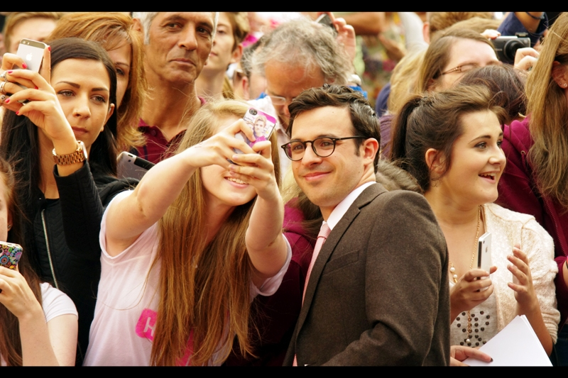 Good news for completists... much like The Spice Girls, I've now photographed all four of the Inbetweeners with the addition of Simon Bird. However unlike the Spice Girls, which took a couple of years and several events, here I've done it in one fell swoop. I am apparently (?) now the envy of any number of teenage girls in this country. I wouldn't say teenage girls are my contemporaries, but I'll take my envy where I can get it.