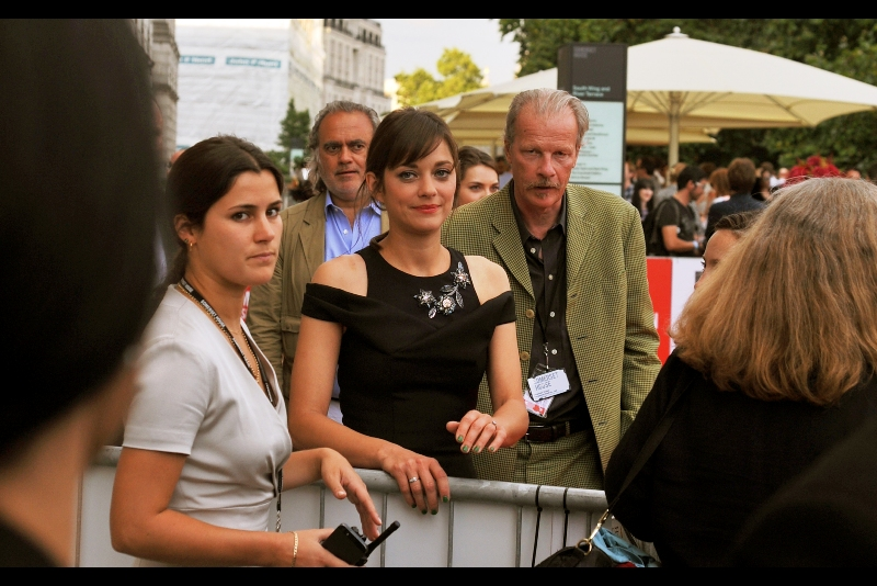 "The lovely  Marion Cotillard  is all  ""yeah, I won an Oscar and am widely respected for my mastery of the craft of Acting, but sure I'll sign your Inception and Dark Knight Rises crap"".  (She wasn't like that... she was very friendly)"