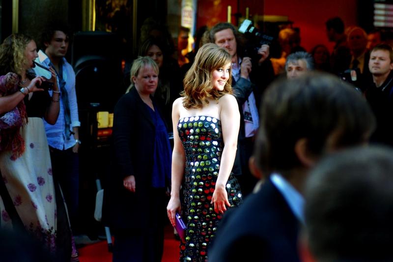 April Pearson, wearing April Pearson's dress.