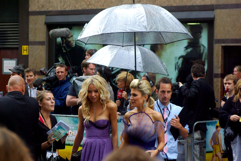 """And so I told him that with a dress like this and two umbrellas, how could I NOT be a celebrity?"""