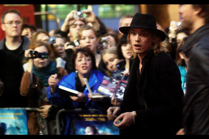 Rather amazingly, I've managed to track down this guy's identity. Some fans near me were desperately beckoning him over and a had a promo picture I recognised as being from 'Twilight - New Moon'. So I've tracked down that photo and he is apparently actor Jamie Campbell Bower. If I'm right, what do I win??