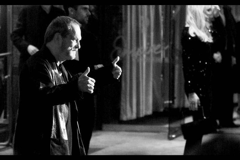 One last shot of director Terry Gilliam, attempting to influence film reviewers everywhere with a suggested level of endorsement.