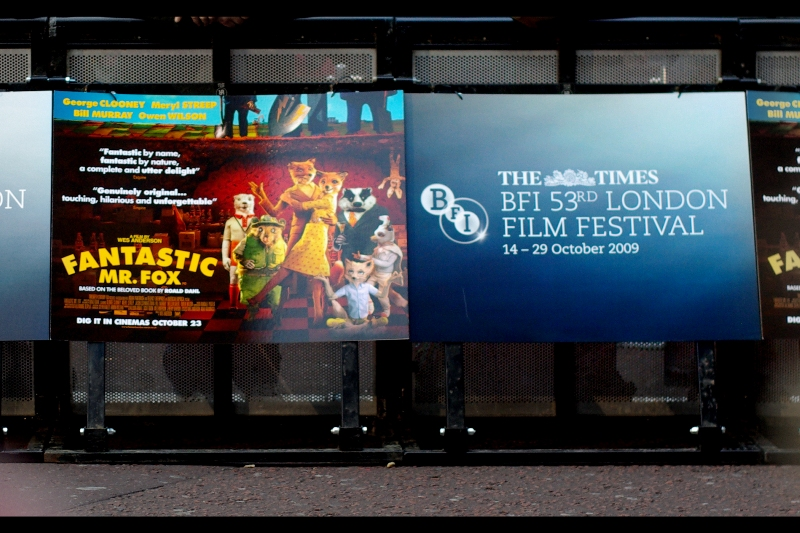 It's the BFI British Film Festival. And what does that mean? It means Yellow Cap Guy ain't leaving Leicester Square for any reason for the next fortnight...