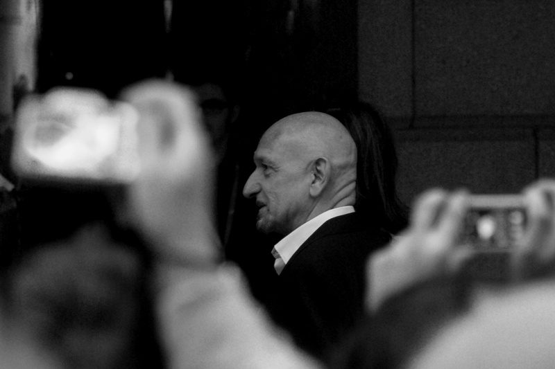 Academy Award (tm) winner Ben Kingsley. And true to form, a total number of zero (0) girls asked whether I'd email them photos I'd taken of him. This cuts me deep, as my hairline is more from the 'Kingsley' school of aesthetics, rather than the badly tousled and much less aerodynamic 'Firth' school.