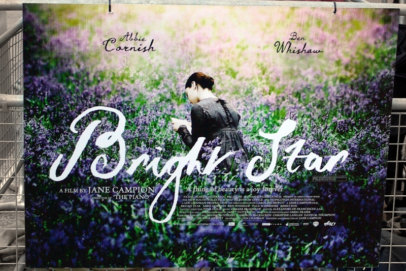 """""""Bright Star"""" is a movie about the love affair between poet John Keats and Fanny Brawne, which was cut short by his untimely death at a young age. I actually studied Keats in High School... and the director is from New Zealand, which I've visited. The connections between me and this film are numerous, clearly. (Very cool poster too)"""