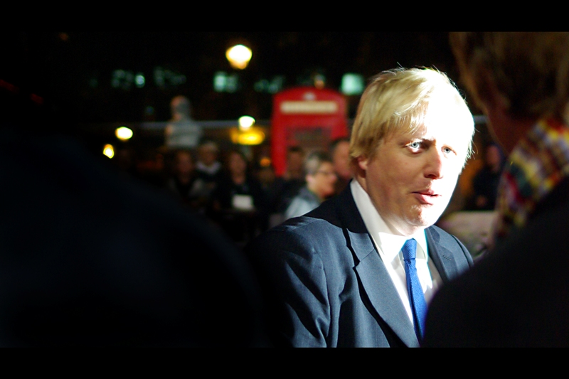 And finally, here's a photo of London's Mayor Boris Johnson. He looks a bit quirky and ungainly, but for a politician he has a rather cool sense of humour in his speeches and writing, so I'm cool with that. The errant flash from somebody else's camera did me a nice favour, there, too, in making him look even more quirky and ungainly.