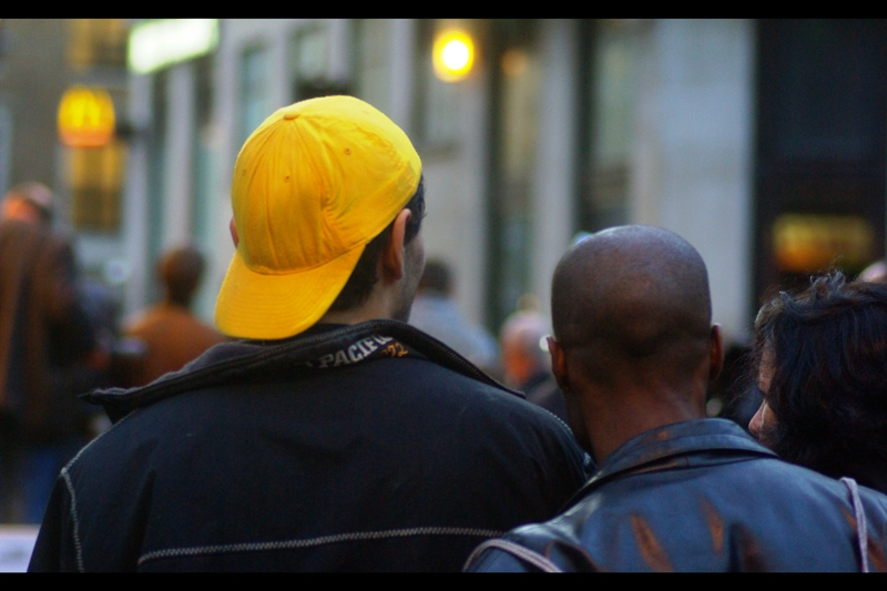 Yellow Cap Guy in the hizzle.  (Fo' shizzle)