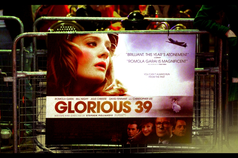 """Glorious 39"", huh? I'd never heard of the film, and if I'm honest I didn't know there was a premiere for it - I was there for the movie after it, same cinema, two hours later. But hey, have camera, will travel!"