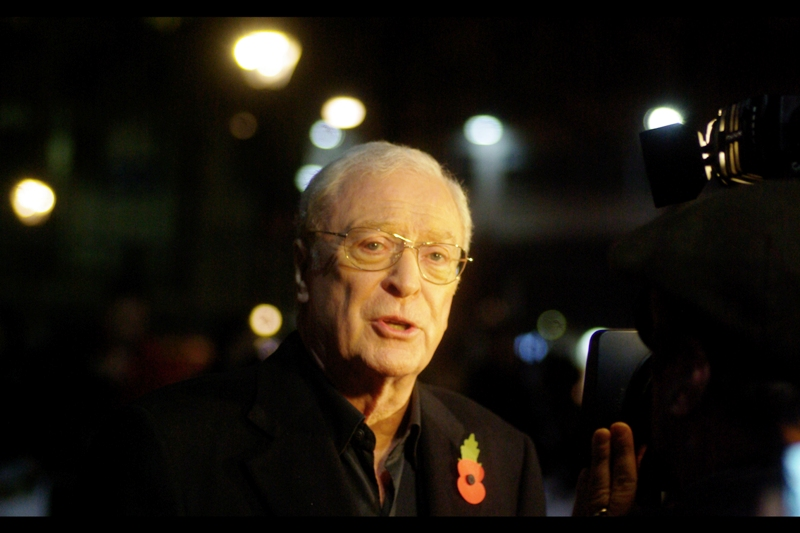 "But let's get back to the Lead Actor and Biggest Draw of this premiere. Sir Michael Caine says: "" Stay In School, Kids. And don't do Drugs. "" (Or somesuch thing. I was taking photos, not paying attention..)"