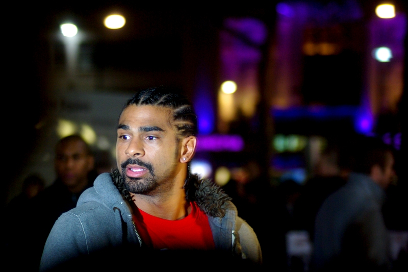 Whoever it was that made David Haye turn around: you caught a world heavyweight champ off-guard. Well done!
