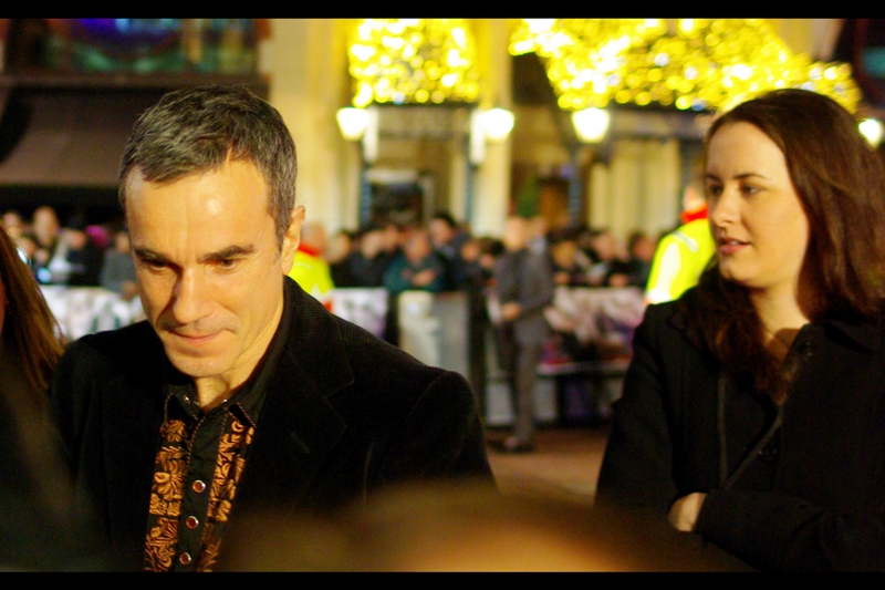 Awesomely, actor Daniel Day-Lewis was first to arrive. He's won two Academy Awards <TM> and is an exponent of the Method Acting style. (Depending on how recently they finished filming the movie, he might actually have been struggling to stay in character as… himself.)