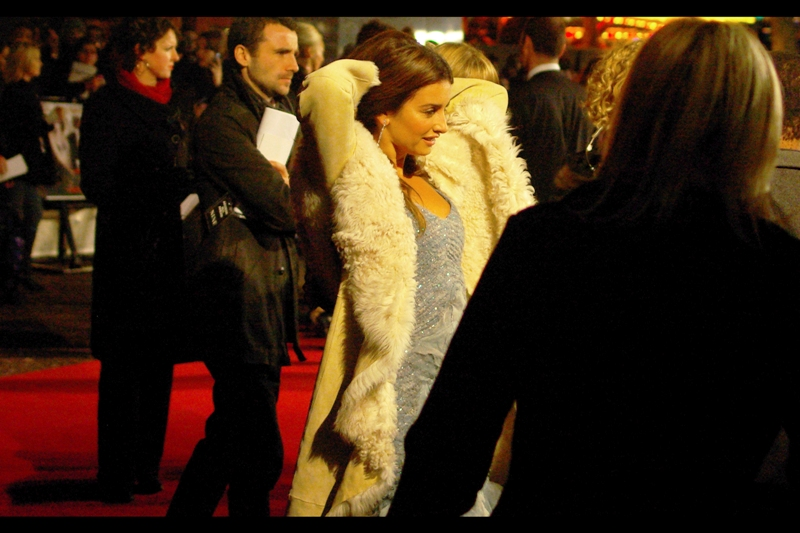Feeling sufficiently cold in the freezing London winter eve, Penelope Cruz quickly caught, killed, skinned and then made a coat out of a passing Polar Bear. Sadly, I didn't get any photos of her doing most of that – you're just going to have to believe me based on my assertion (and this one photo of the aftermath.)