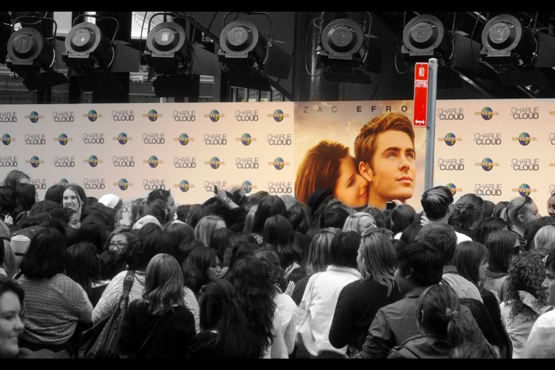 The crowd? Is building. And Zac Efron? Will totally respect the  traffic signs in your country.