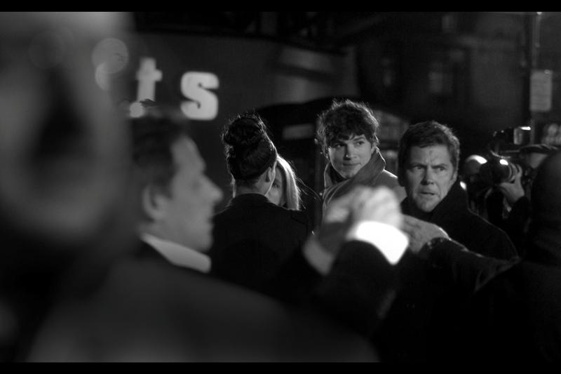 Ashton Kutcher, looking very Ashton Kutcher-esque, at the same premiere...
