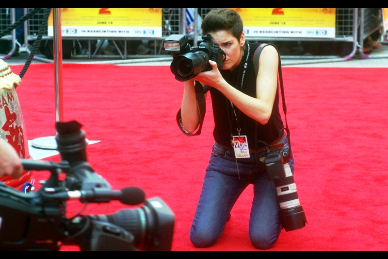 I do hope I look this cool when I'm taking photos. Well... I mean in a masculine way, obviously.