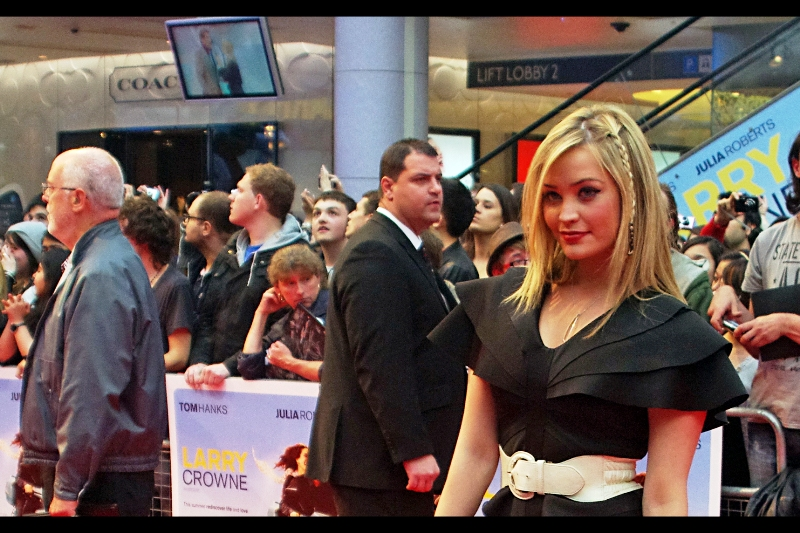 Perchance the lady remembers me from yesterday's premiere - Kung Fu Panda 2?  (Perchance not...)