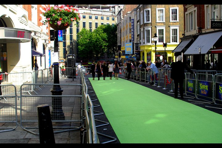 A specially laid green carpet says some kind of SOMETHING is going to go down tonight. But what? With a crowd this small, I'm prepared for disappointment.