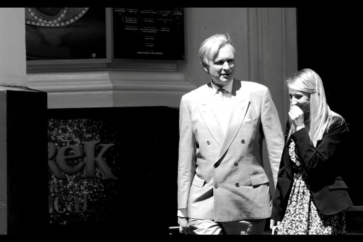 If this is wikileaks founder Julian Assange, I'm willing to retract a lot of my skepticism about this event... and replace it with confusion.
