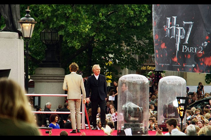 I get the feeling if Alan Rickmanthink had simply grabbed the microphone and told all the fans they were insufferably arrogant and talentless, the crowd would have cheered him staying in character more than they might have been insulted.