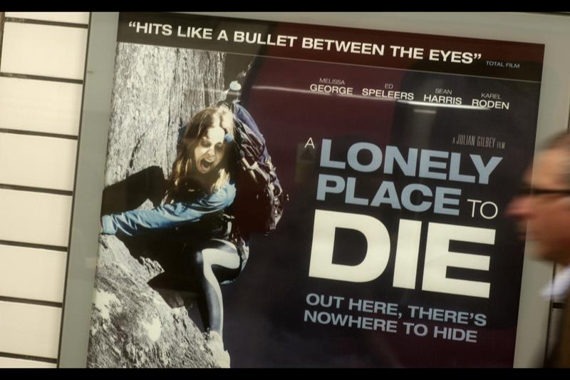 Following day establishing shot. Photo on poster? Does not even begin to do her justice.