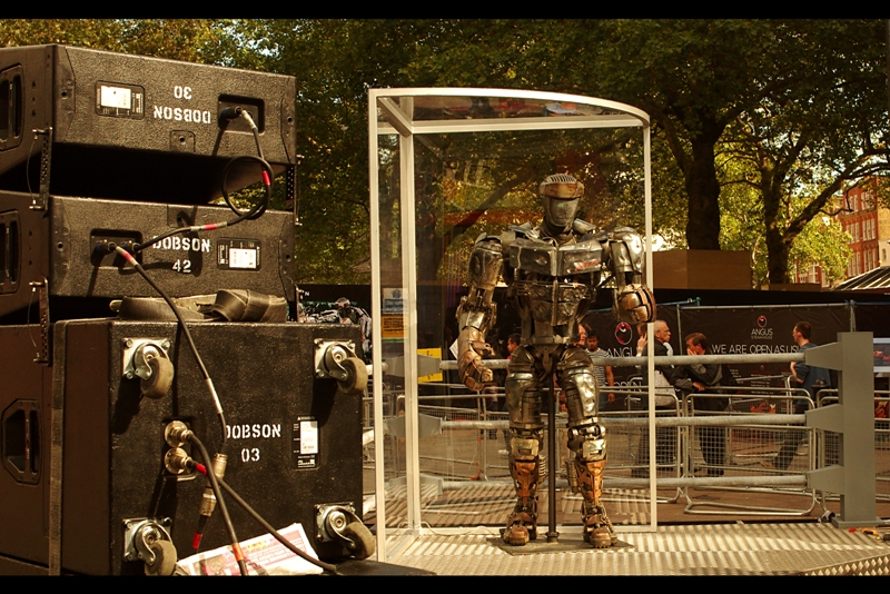This is one of the robots in the film. Well, when I say 'robot' in this context we're talking a statue in a perspex box. But you know... willing suspension of disbelief and everything..