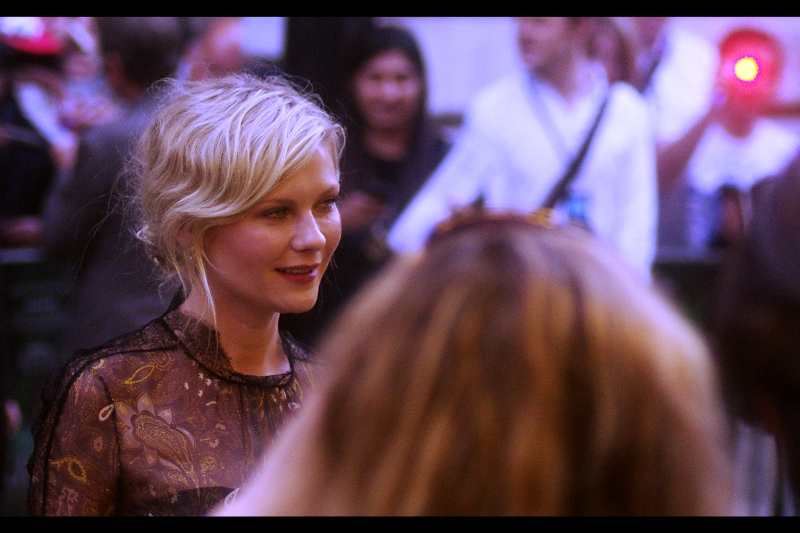 """Besides """"Interview with the Vampire"""" which was kind of her breakout role, Kirsten Dunst was in 'Jumanji'. (*REALLY?* yes, really). Kind of off-puttingly, every front-on shot I managed to take of Kirsten Dunst had her giving very strange expressions ... it's almost as if her eyes don't handle barrages of Paparazzi flashes too well"""
